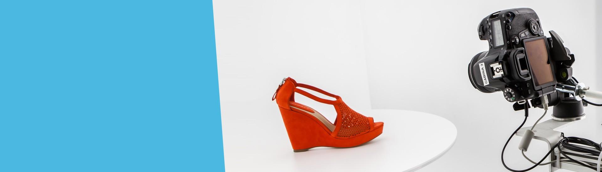Fotografía de producto tienda online zapato